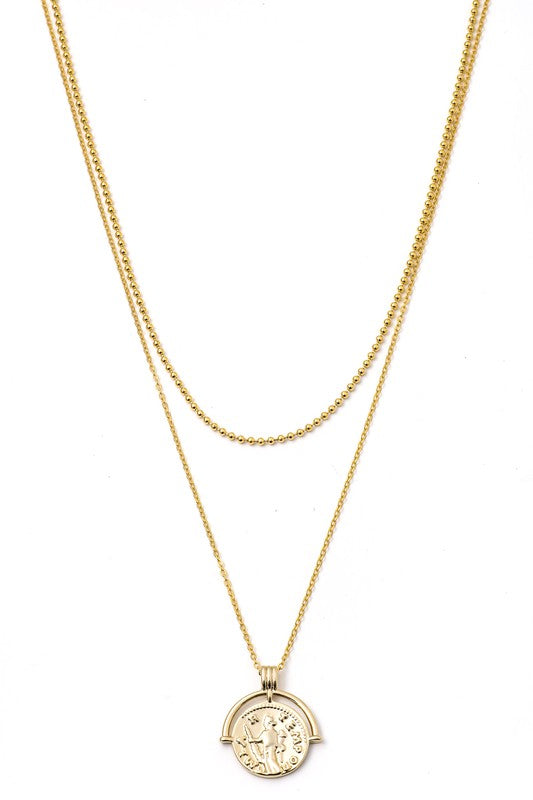 Gia Pendant Layered Necklace