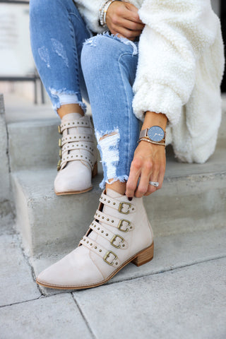 Golden Road Fringe Bootie