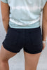 Paxton Black Denim Shorts
