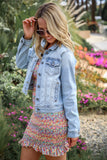 Tori Light Wash Denim Jacket