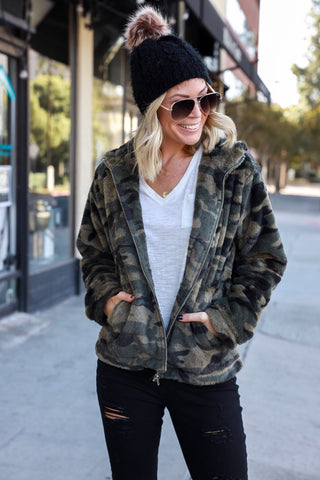 Cozy Livin' Camo Sweatshirt - FINAL SALE