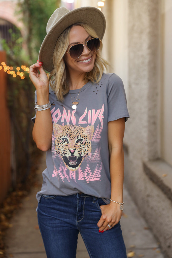 Cheetah Distressed Tee