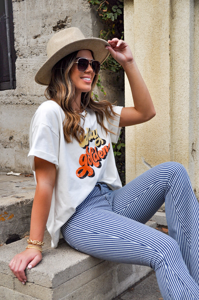 Stay Golden Oversized Graphic Tee