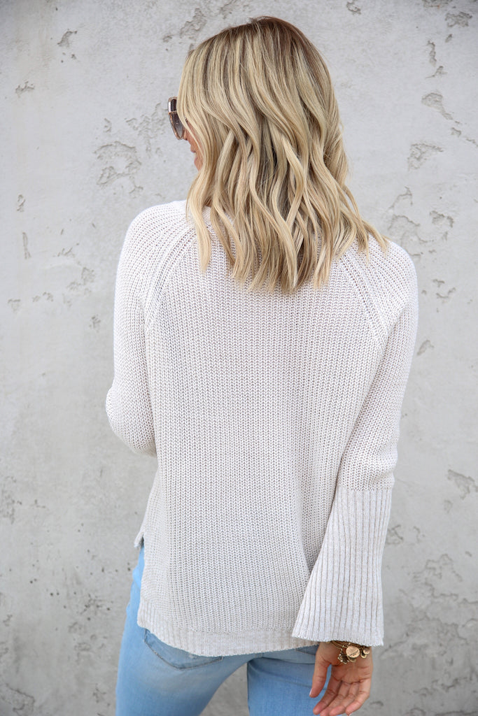 Juliana Lace Up Sweater - FINAL SALE