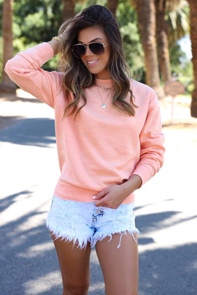 Kylee Acid Wash Denim Shorts