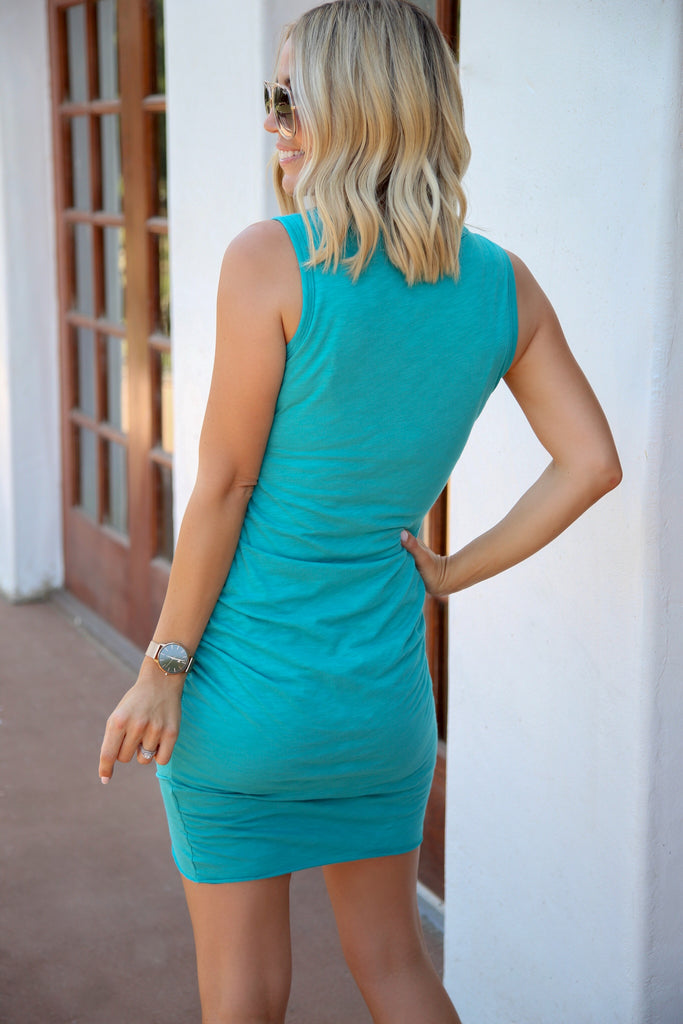 Mara Ruched Tank Dress