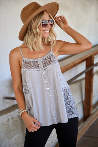 Fiona Tie Front Tank - FINAL SALE