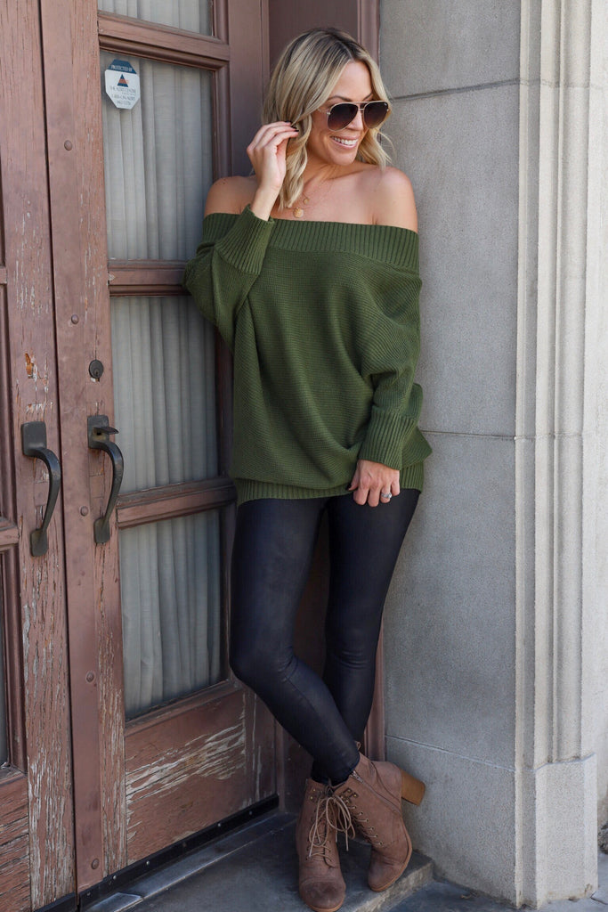 Kinsley Off Shoulder Sweater - FINAL SALE