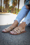 Micah Gold Studded Sandals