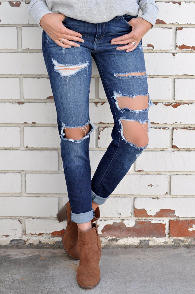 Avenue Distressed Skinny - FINAL SALE