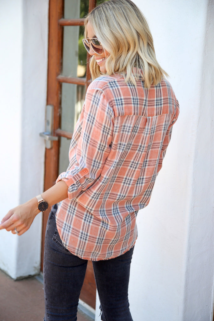 Tawney Plaid Top