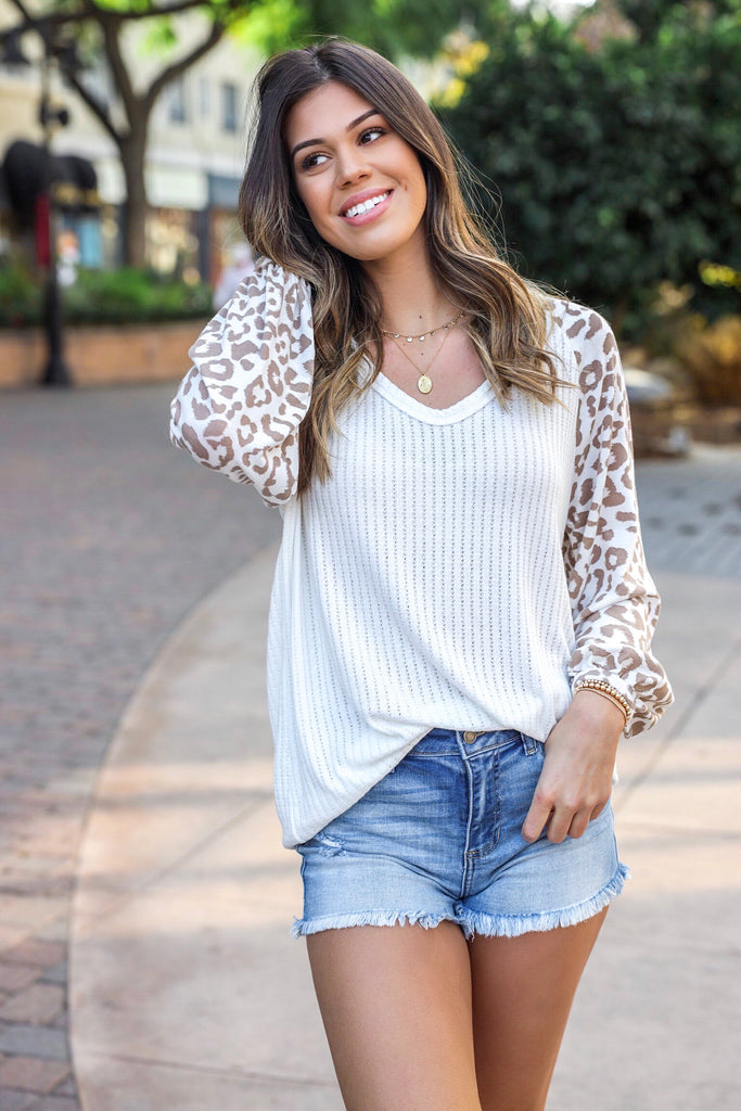 Hallie Leopard Top