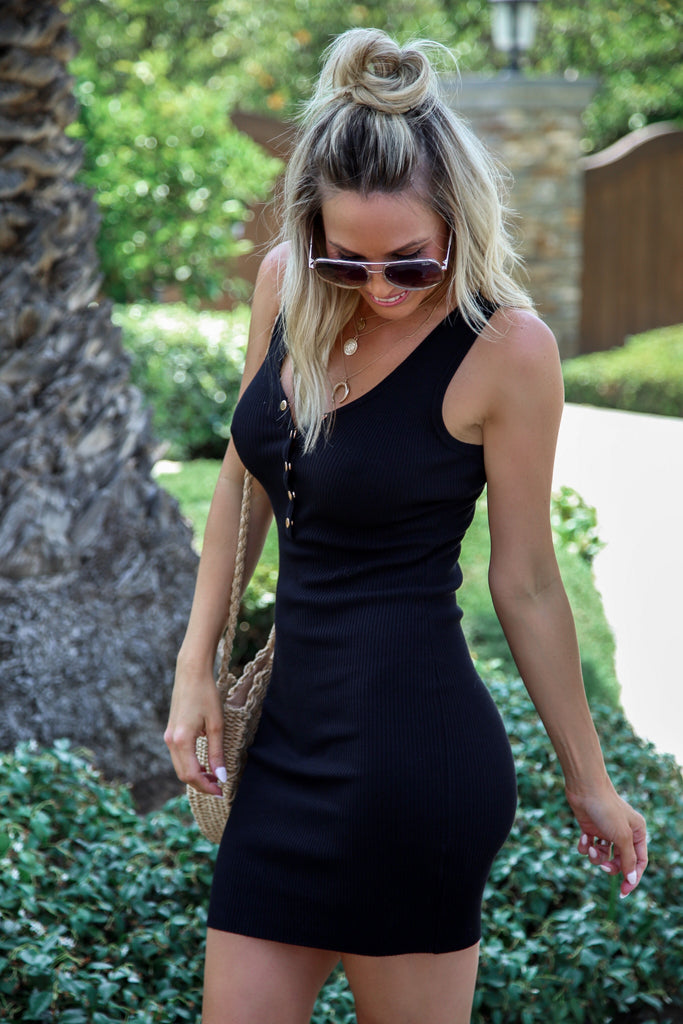 Hayley Ribbed Bodycon Dress