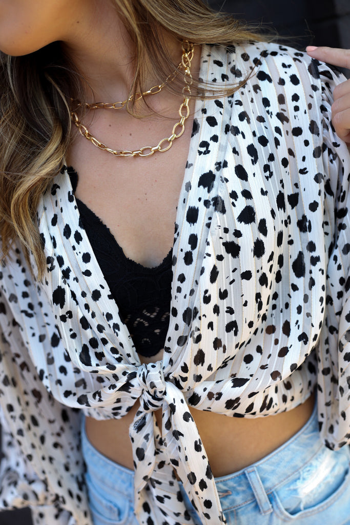 Simply Irresistible Tie Blouse