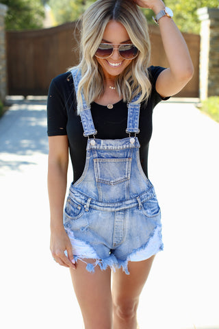 Carrington High Waist Denim Shorts
