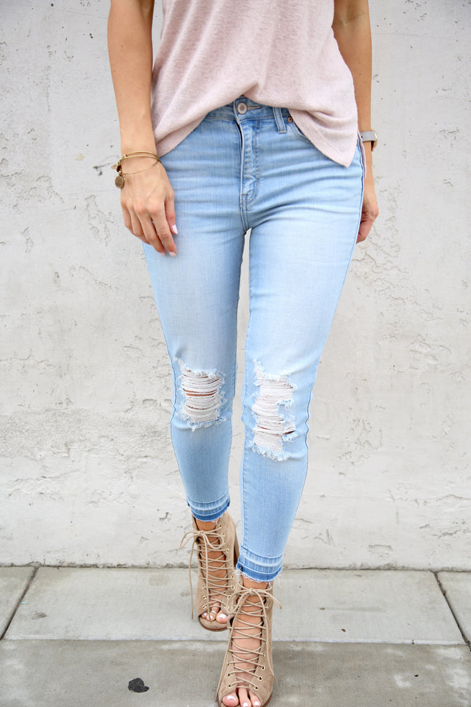 Oceanside Distressed Denim - FINAL SALE