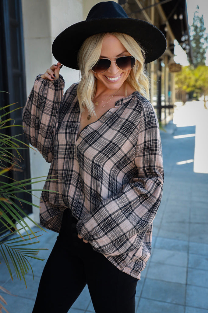 Westwood Plaid Top