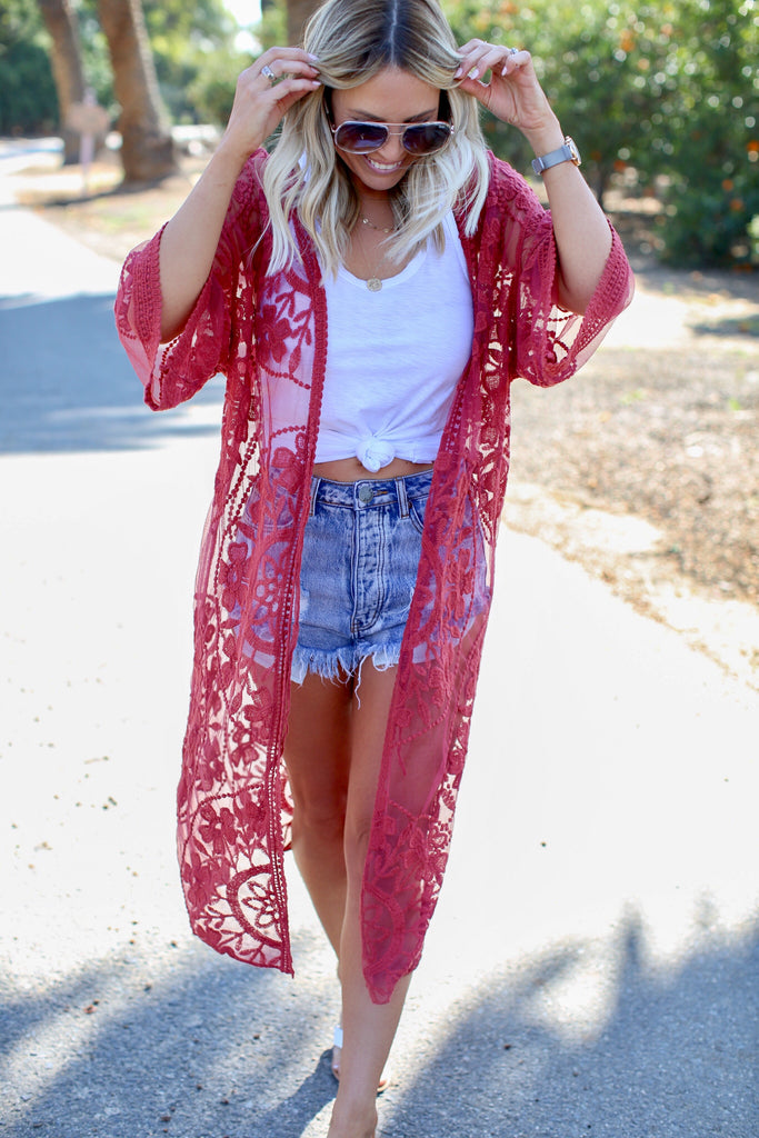Spring Breeze Lace Kimono - FINAL SALE