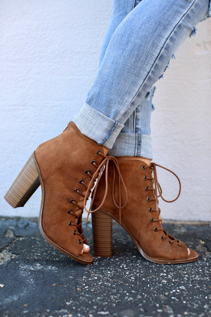 Camille Lace Up Bootie