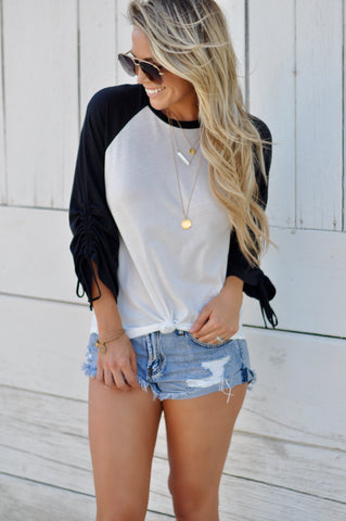 Aniston Lace Up Top - FINAL SALE