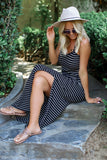 Sailor Stripe Maxi Dress