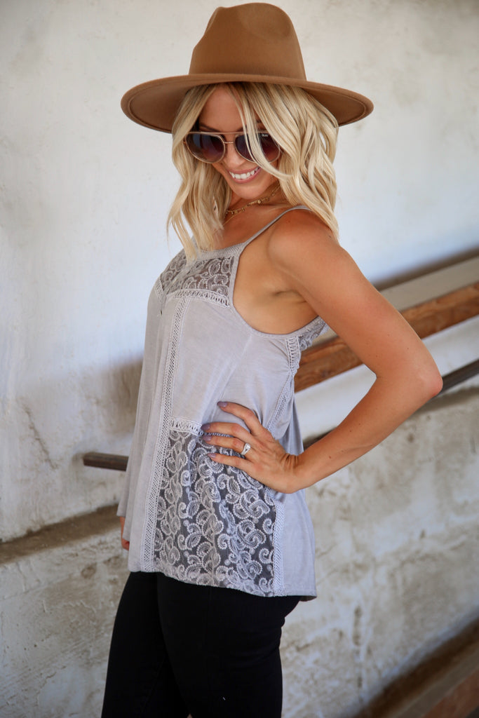 Gwynn Lace Tank - FINAL SALE