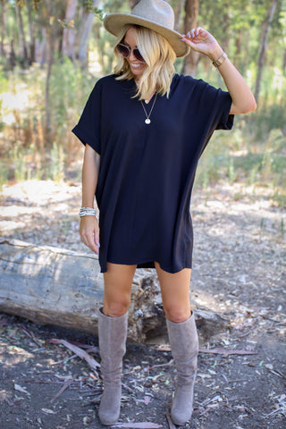 Kenzie Ruched T-Shirt Dress