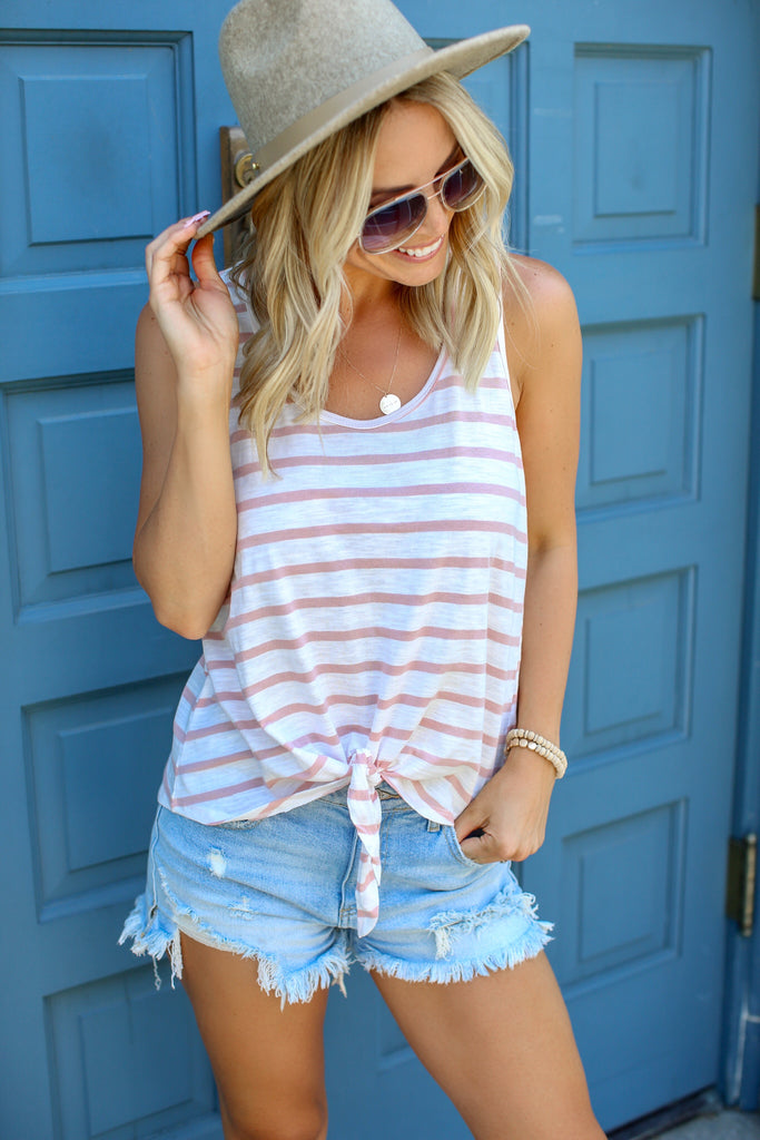 Sunset Beach Stripe Tank - FINAL SALE