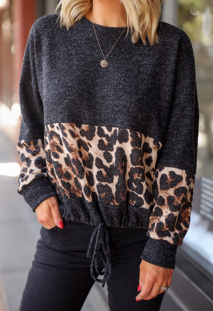 A Touch of Leopard Sweater - FINAL SALE