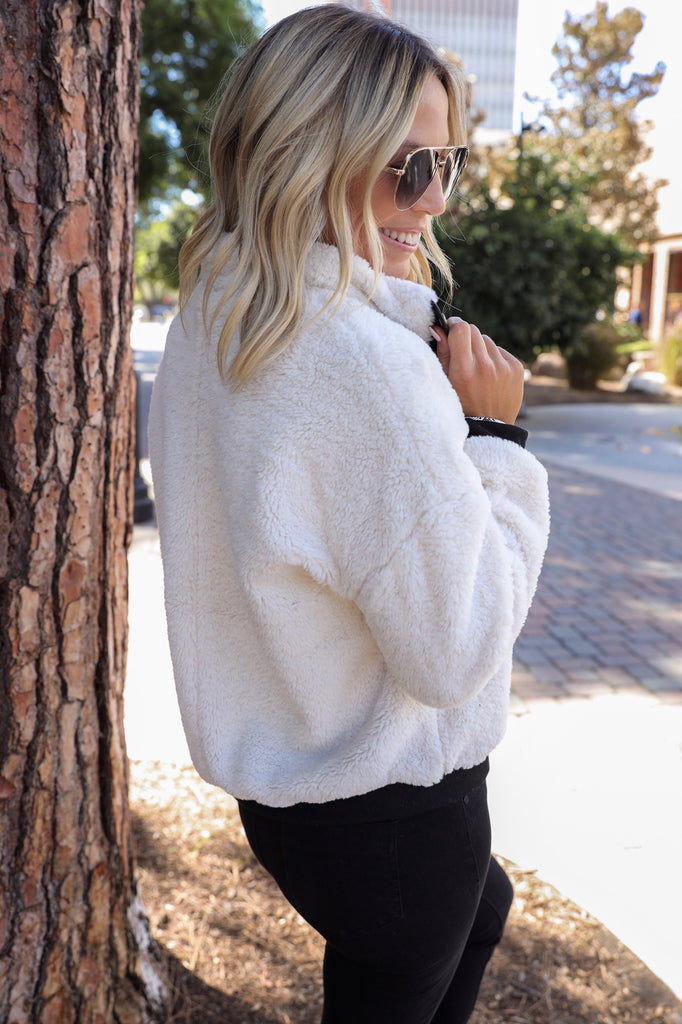 Winter Bliss Sherpa Pull Over - FINAL SALE
