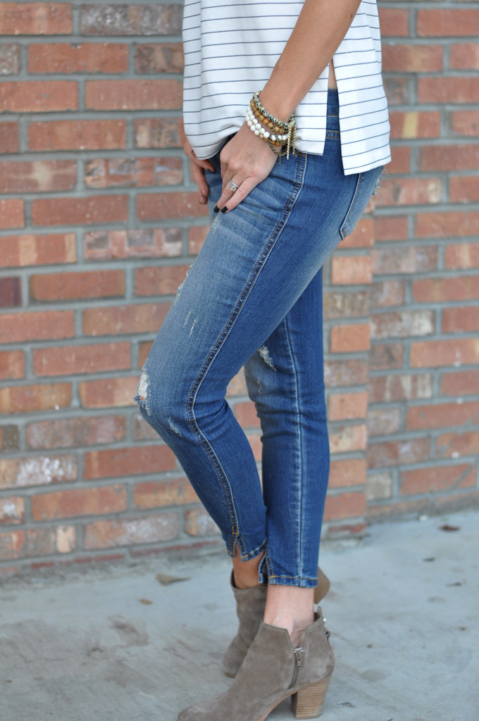 Iconic Split Ankle Jeans - FINAL SALE