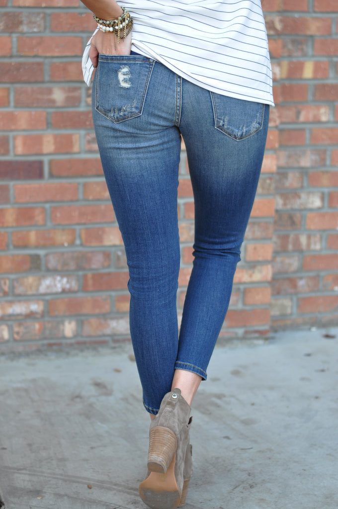 Iconic Split Ankle Jeans