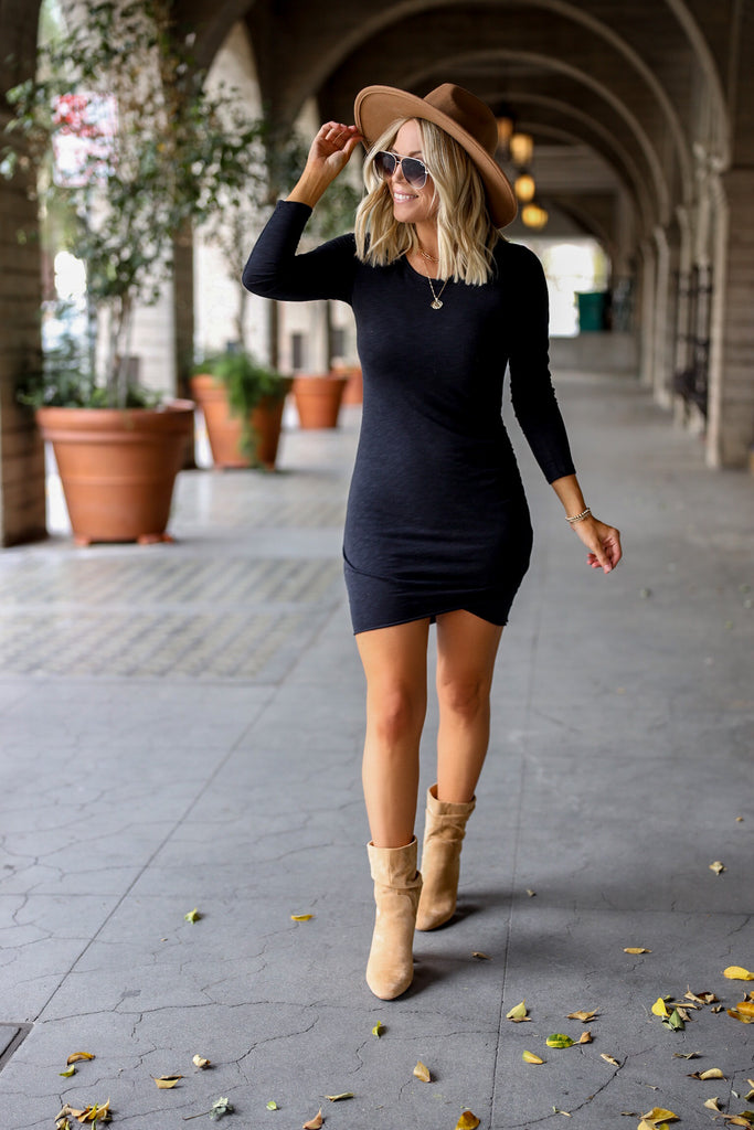 Skye Long Sleeve Ruched Dress