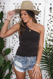Jayden One Shoulder Tank - FINAL SALE