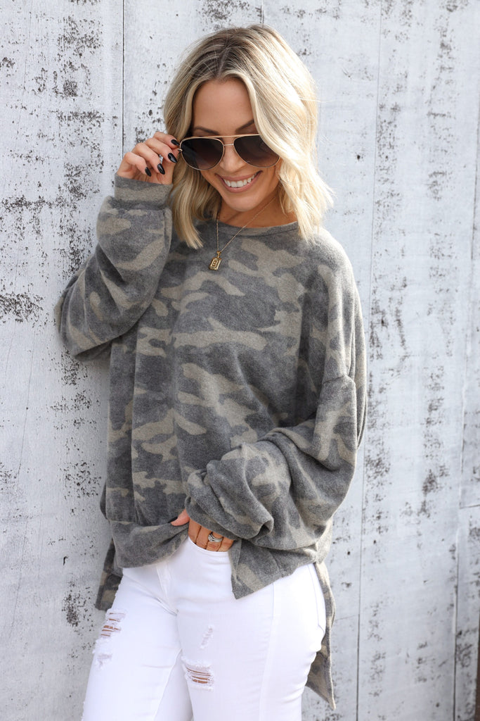 Aden Camo Sweater - FINAL SALE