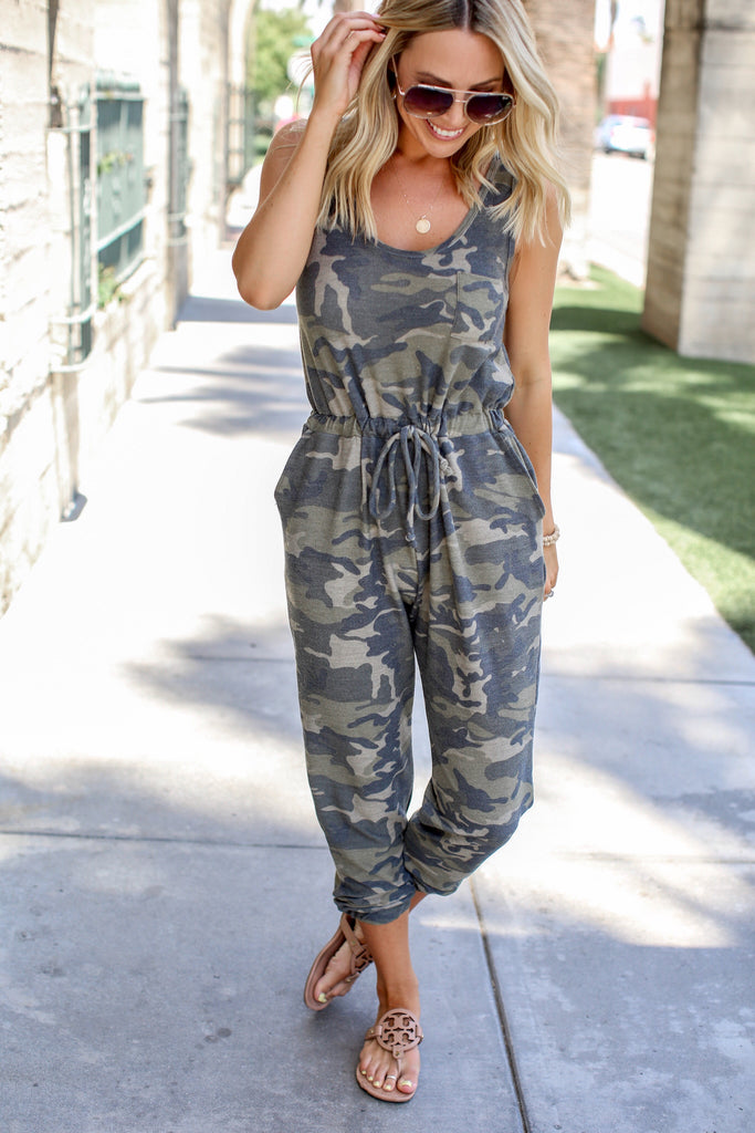 Laid Back Camo Jumpsuit