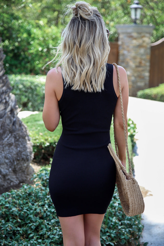 Hayley Ribbed Bodycon Dress - FINAL SALE