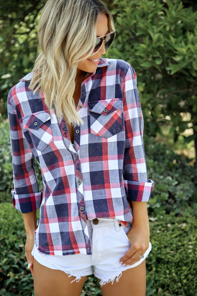 Vintage Plaid Top
