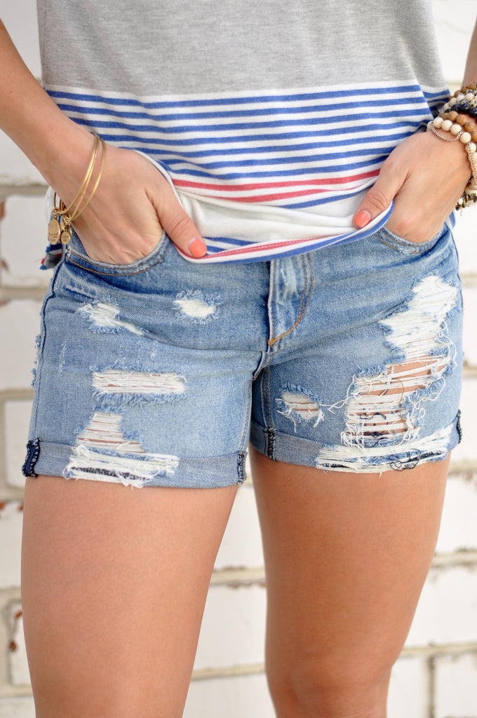 Signature Denim Cutoffs - FINAL SALE