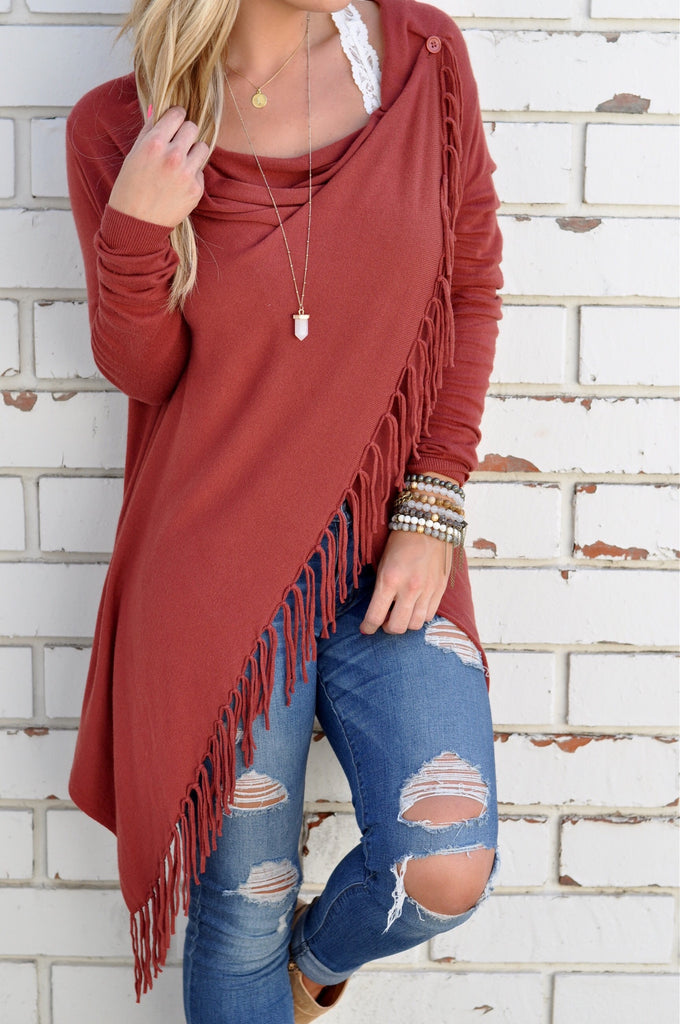 Paige Fringe Shawl - FINAL SALE