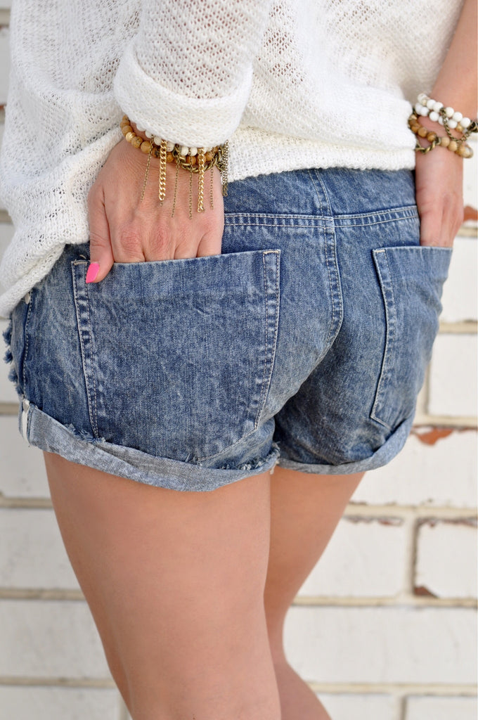 All Tied Up Denim Shorts
