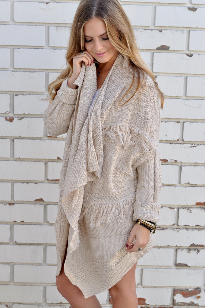 Shay Fringe Cardigan - FINAL SALE