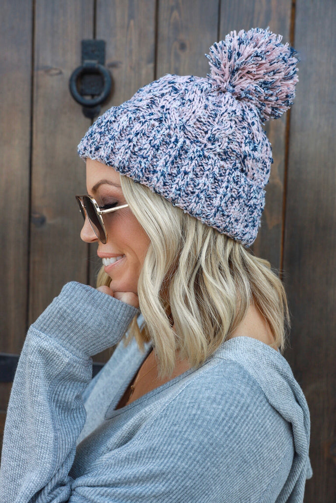 Heavenly Multi Knit Beanie - FINAL SALE