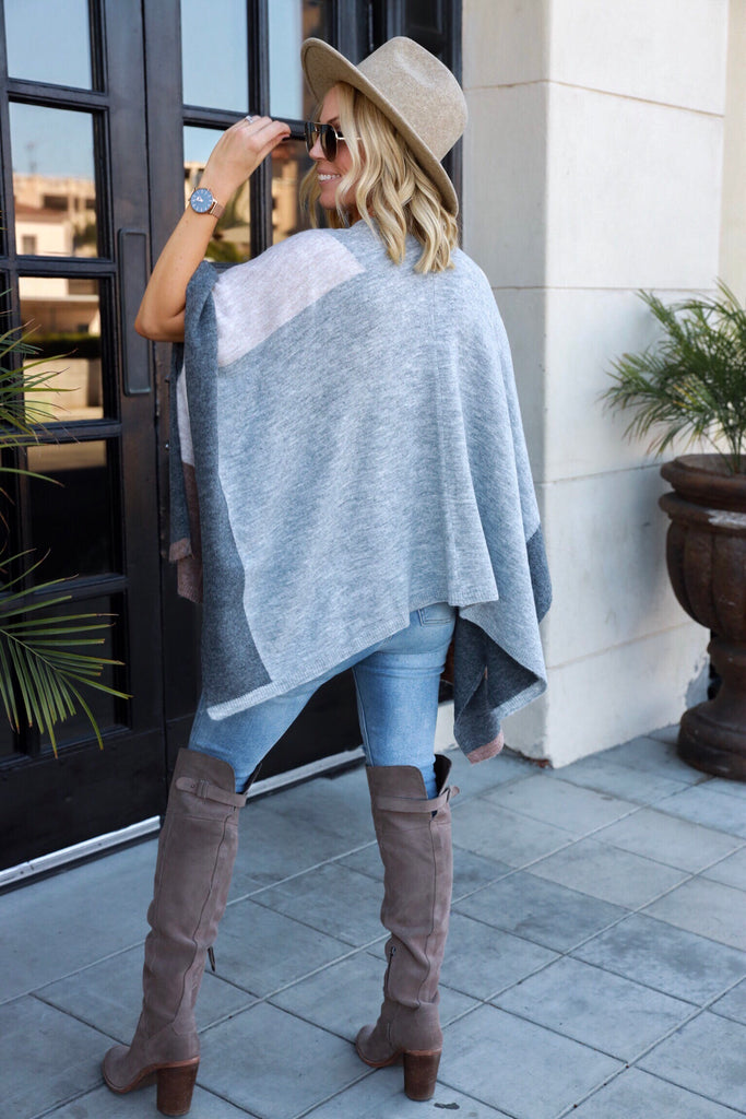Snuggle Season Poncho - FINAL SALE