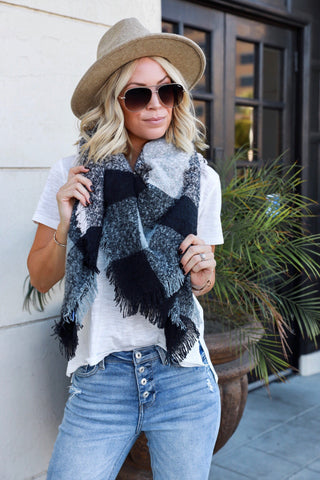 Halsey Plaid Scarf - FINAL SALE