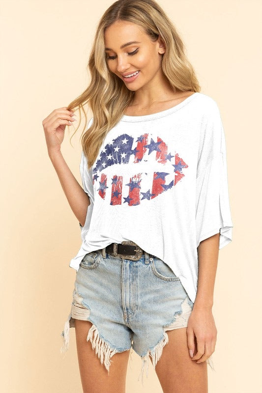 American Lip Graphic Tee