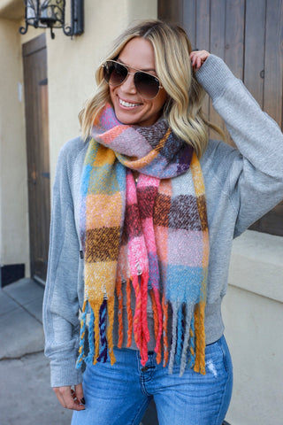 Falling Leaves Blanket Scarf