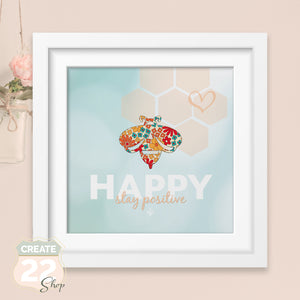 Be Happy Picture Frame Wall Art