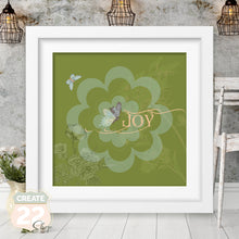 Load image into Gallery viewer, Retro Flower - Vintage Joy Picture Frame