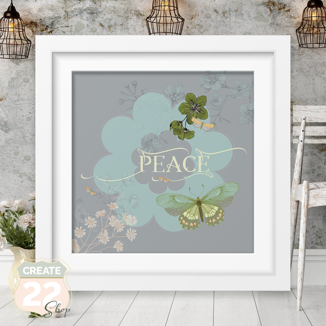 Retro Flower - Vintage Peace Picture Frame